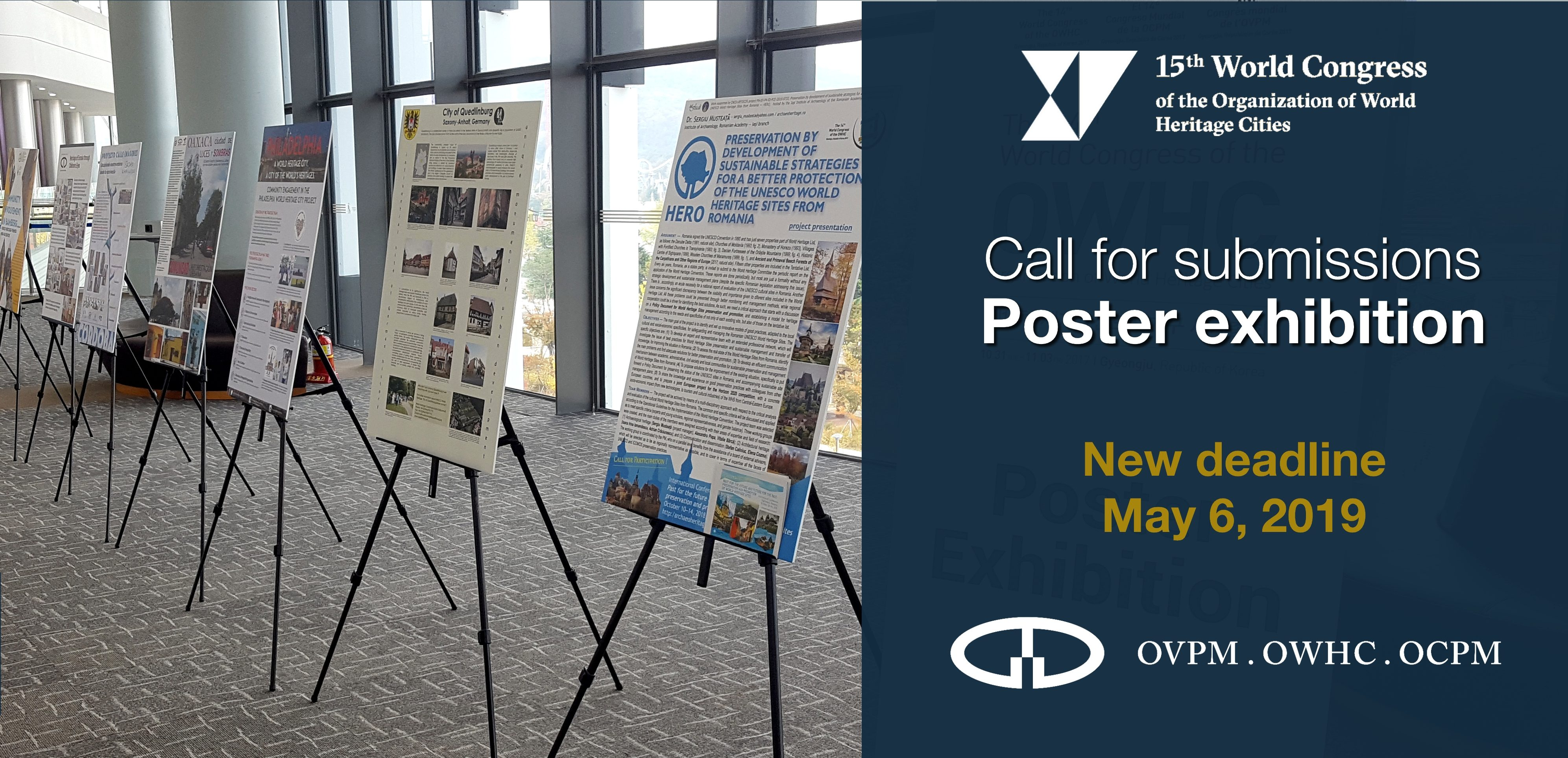 Call for submissions for the poster exhibition - New deadline: May 6, 2019  - Organization of World Heritage Cities